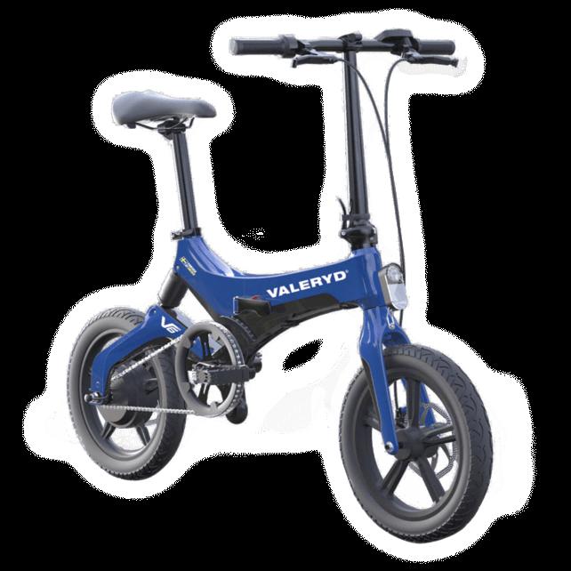 Elcykel Blå